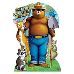 Smokey Bear & Friends Stand-Out fire prevention, smokey bear, stand-out, smokey, photo prop, cut out, wildfires