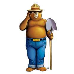 Smokey Bear Full Body Wall Cling firefighting, fire safety product, fire prevention, smokey bear, wall cling