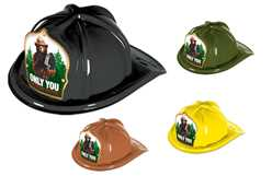 Smokey Bear Only You Colored Fire Hat firefighting, fire safety product, fire prevention, smokey, smokey bear, plastic fire hat, plastic, Only You, hats, bear, fire hat, stock