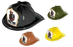 Smokey Bear Only You Fire Hat firefighting, fire safety product, fire prevention, smokey, smokey bear, plastic fire hat, plastic, hats, bear, fire hat, stock