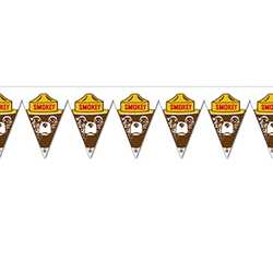 Smokey Bear Pennant Banner firefighting, fire safety product, fire prevention, smokey, smokey bear, pennant banners, banner, all-weather banner, pennant, grommets, stock