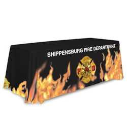 Standard Table Throw - Flame Design firefighting, fire safety product, fire prevention, table cover, table throw, table cloth, fire dept., community events, fire prevention week