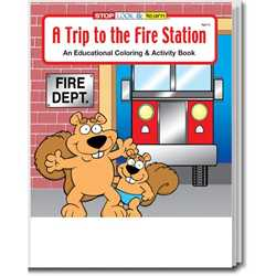 Stock Coloring Book - A Trip to the Fire Station firefighting, fire safety product, fire prevention product, firefighting coloring book, firefighting activity book, fire safety coloring book, fire safety activity book, fire prevention coloring book, fire prevention activity book