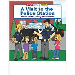 Stock Coloring Book - A Visit to the Police Station