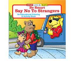 Stock Coloring Book - Be Smart, Say NO to Strangers