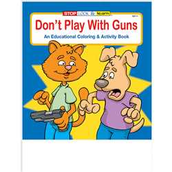 Stock Coloring Book - Dont Play With Guns