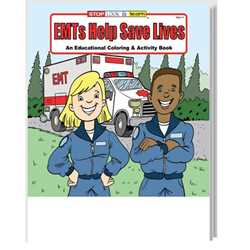 Stock Coloring Book - EMTs Help Save Lives