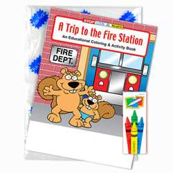 Stock Coloring Book Fun Pack - A Trip to the Fire Station firefighting, fire safety product, fire prevention product, firefighting coloring book, firefighting activity book, fire safety coloring book, fire safety activity book, fire prevention coloring book, fire prevention activity book