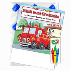 Stock Coloring Book Fun Pack - A Visit to the Fire Station firefighting, fire safety product, fire prevention product, firefighting coloring book, firefighting activity book, fire safety coloring book, fire safety activity book, fire prevention coloring book, fire prevention activity book