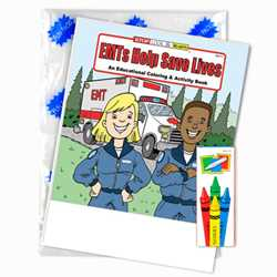 Stock Coloring Book Fun Pack - EMTs Help Save Lives