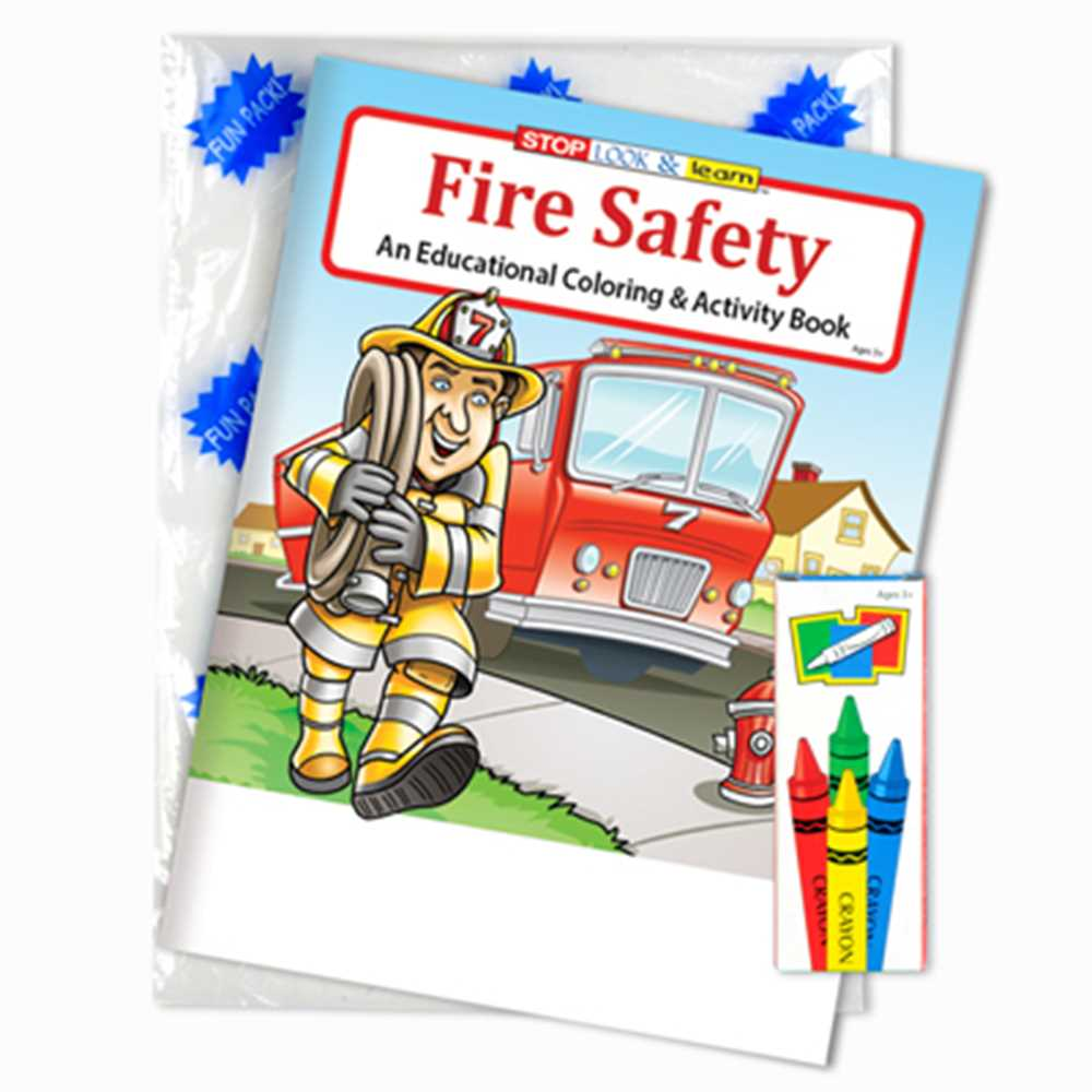 Stock Coloring Book Fun Pack - Fire Safety