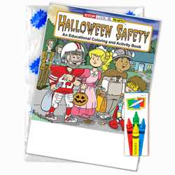 Stock Coloring Book Fun Pack - Halloween Safety