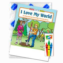 Stock Coloring Book Fun Pack - I Love My World