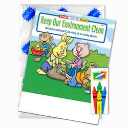 Stock Coloring Book Fun Pack - Keep Our Environment Clean