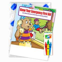 Stock Coloring Book Fun Pack - Know Your Emergency First Aid