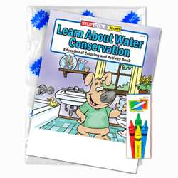 Stock Coloring Book Fun Pack -Learn About Water Conservation