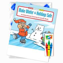 Stock Coloring Book Fun Pack - Make Winter and Holidays Safe