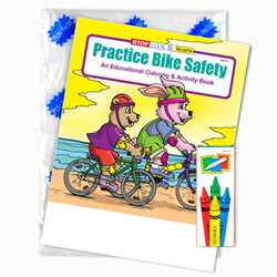 Stock Coloring Book Fun Pack - Practice Bike Safety