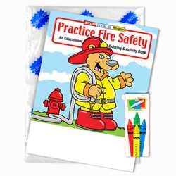 Stock Coloring Book Fun Pack - Practice Fire Safety - English Version firefighting, fire safety product, fire prevention product, firefighting coloring book, firefighting activity book, fire safety coloring book, fire safety activity book, fire prevention coloring book, fire prevention activity book