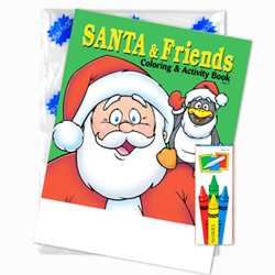 Stock Coloring Book Fun Pack - Santa and Friends