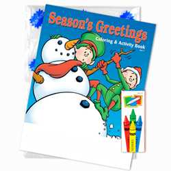 Stock Coloring Book Fun Pack - Seasons Greetings