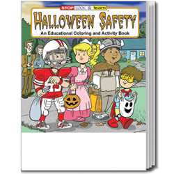 Stock Coloring Book - Halloween Safety