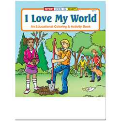 Stock Coloring Book - I Love My World