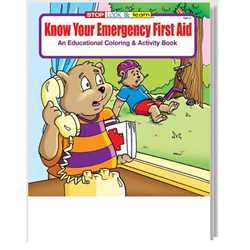 Stock Coloring Book - Know Your Emergency First Aid