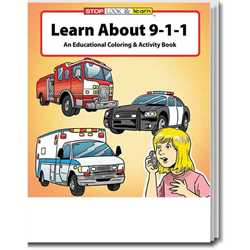 Stock Coloring Book - Learn About 9-1-1