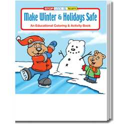 Stock Coloring Book - Make Winter and Holidays Safe