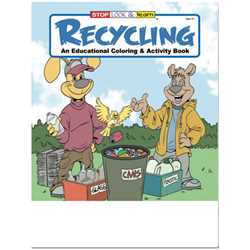 Stock Coloring Book - Recycling