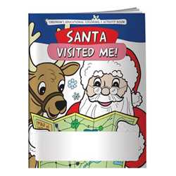 Stock Coloring Book - Santa Visited Me! Merry, Christmas, Holiday, children, educational, coloring, activity, book, safety