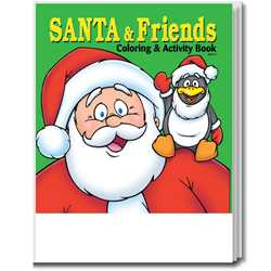 Stock Coloring Book - Santa and Friends