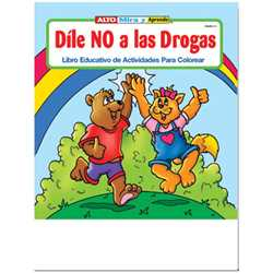 Stock Coloring Book - Say No to Drugs (Spanish)