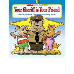 Stock Coloring Book - Your Sheriff Is Your Friend