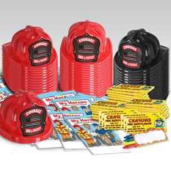 Stock Firefighter Honor Value Bundle - 1500 pcs.   fire prevention, fire hats, coloring books, crayons, value, thin red line, state