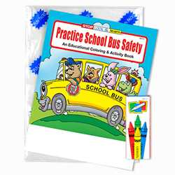 Stock Practice School Bus Safety Fun Pack paint with water, coloring and activity book, bus safety