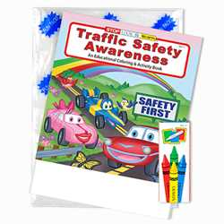 Stock Traffic Safety Awareness Fun Pack paint with water, coloring and activity book, bus safety