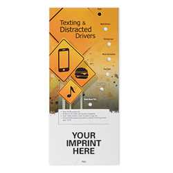Texting & Distracted Drivers Pocket Slider distracted driving, teen drivers, slide charts, do not text and drive