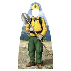 "Wildland Firefighter Photo Prop - 23.5"" x 45"" - Smokey Bear firefighting, fire safety product, fire prevention, smokey, smokey bear, stand-out, wildland firefighter, wildland, wildfires, photo prop, cut out, wildfires, plastic"
