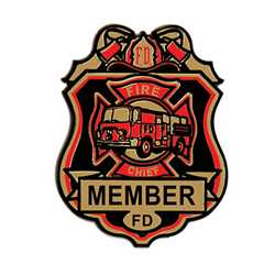 Fire Chief Plastic Badge fire chief badge, plastic fire badge, firefighter badge, plastic firefighter badge, kids firefighter badge