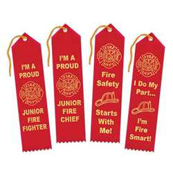 Fire Safety Award Ribbons firefighting, fire safety product, fire prevention, plastic fire badge, firefighting badge