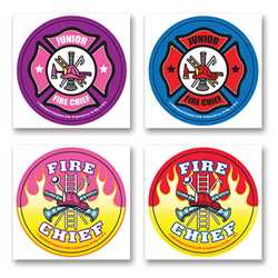 Fire Safety Fun Stickers - Fire Chief firefighting, fire safety product, fire prevention, fire safety stickers, fire prevention stickers, fire chief stickers