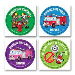 Fire Safety Fun Stickers - Junior Fire Control firefighting, fire safety product, fire prevention, fire safety stickers, fire prevention stickers, junior fire control stickers, fire control stickers
