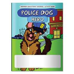 Stock Coloring Book - Police Dog Hero Police, safety product, prevention product, police officer coloring book, police activity book, stock, fire safety coloring book, police safety activity book, prevention coloring book