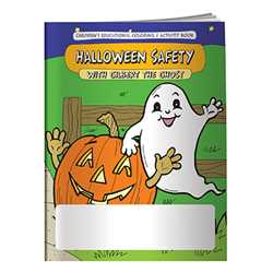 Stock Coloring Book - Halloween Safety with Gilbert the Ghost firefighting, fire safety product, fire prevention product, firefighting coloring book, firefighting activity book, fire safety coloring book, fire safety activity book, fire prevention coloring book, fire prevention activity book