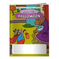 Stock Coloring Book - Halloween Haunted Holiday firefighting, fire safety product, fire prevention product, firefighting coloring book, firefighting activity book, fire safety coloring book, fire safety activity book, fire prevention coloring book, fire prevention activity book