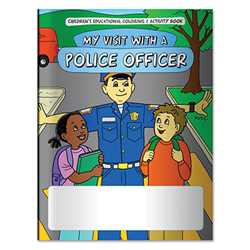 Stock Coloring Book - My Visit with a Police Officer Police, safety product, prevention product, police officer coloring book, police activity book, fire safety coloring book, police safety activity book, prevention coloring book