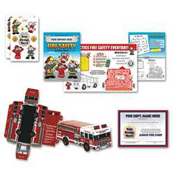 Custom Activity Kit firefighting, fire safety product, fire prevention, custom activity kit, fire safety activity kit, firefighting activity kit, coloring activity kit
