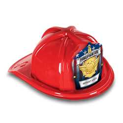 Fire Hat - Custom Gold Jr. FF Shield firefighting, fire safety product, fire prevention, plastic fire hats, fire hats, kids fire hats, junior firefighter hat, custom fire hat